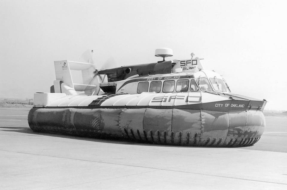 Hovercraft at San Francisco Airport in 1965